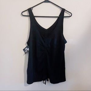NWT Victoria Sport Black Reversible Cinched Tank